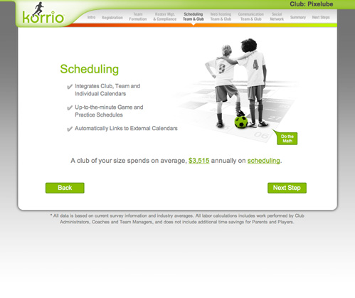 ROI Tool Website Design - Korrio's Cost Savings Calculator