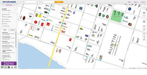 City Maps – Austin Broken Down Via Corporate Brand