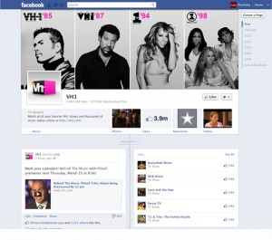 Facebook Timeline Business Page - VH1