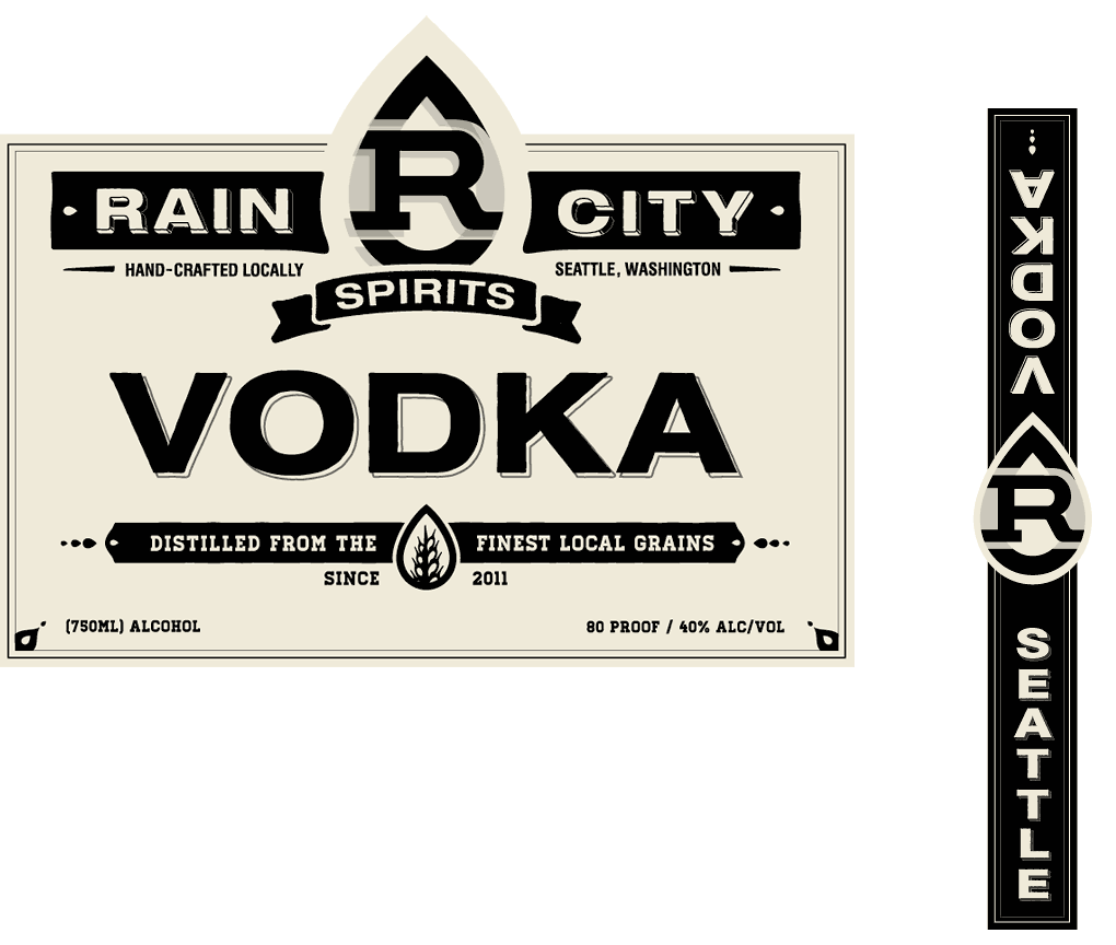 Rain City Vodka Label