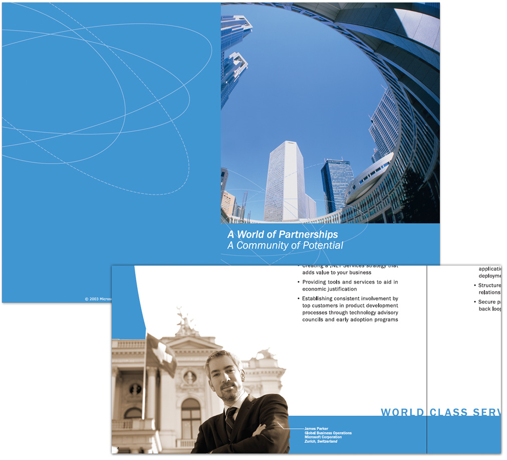 Microsoft Global Accounts Business Packet Design