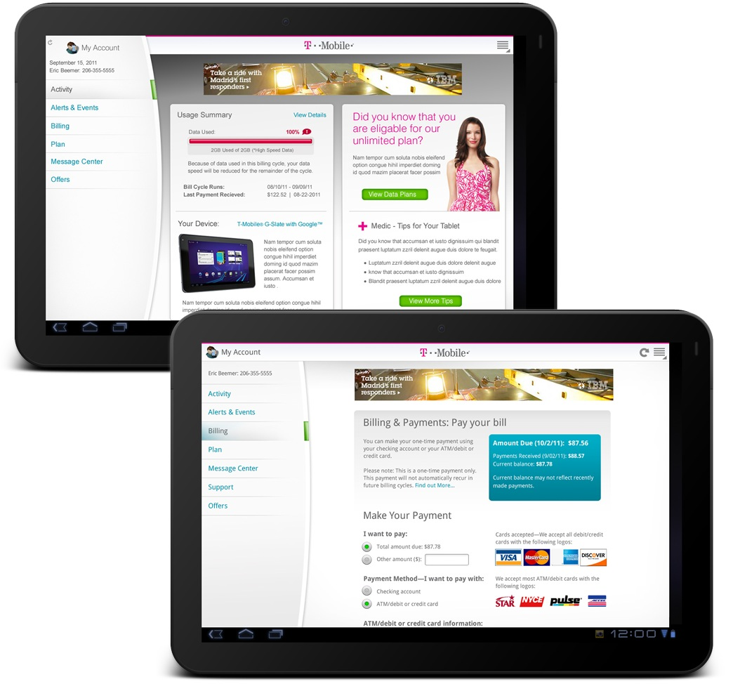 Pixelube » T-Mobile My Account AndroidApplication (Tablet)
