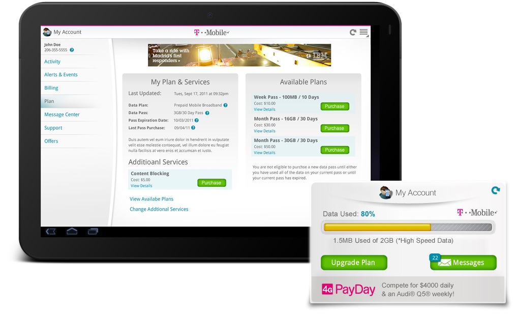 T-Mobile Tablet Android Application App