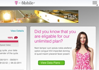 T-Mobile My Account Android<br />Application (Tablet)
