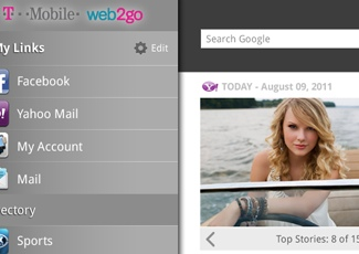 T-Mobile Web2Go Android<br/>App (Tablet)
