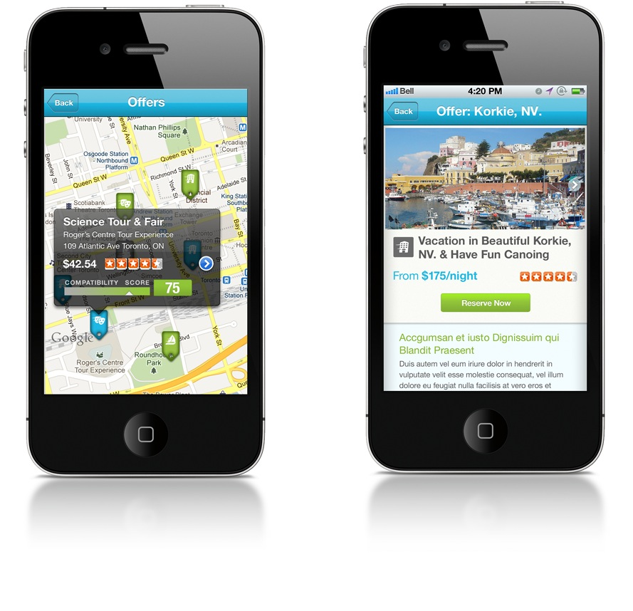 TripCierge iPhone App UX Offers