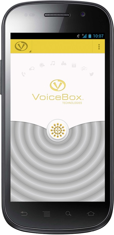 Voice Box Android App UX Splash