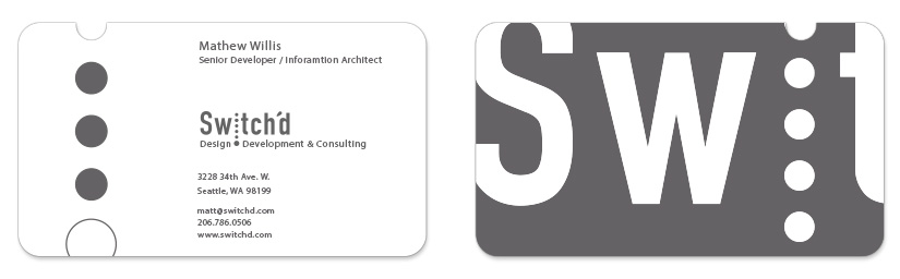 Switched Business Card Design