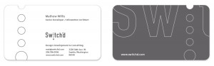 Swtched Business Card Design