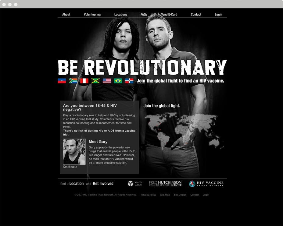 Fred Hutchison Be Revolutionary Website