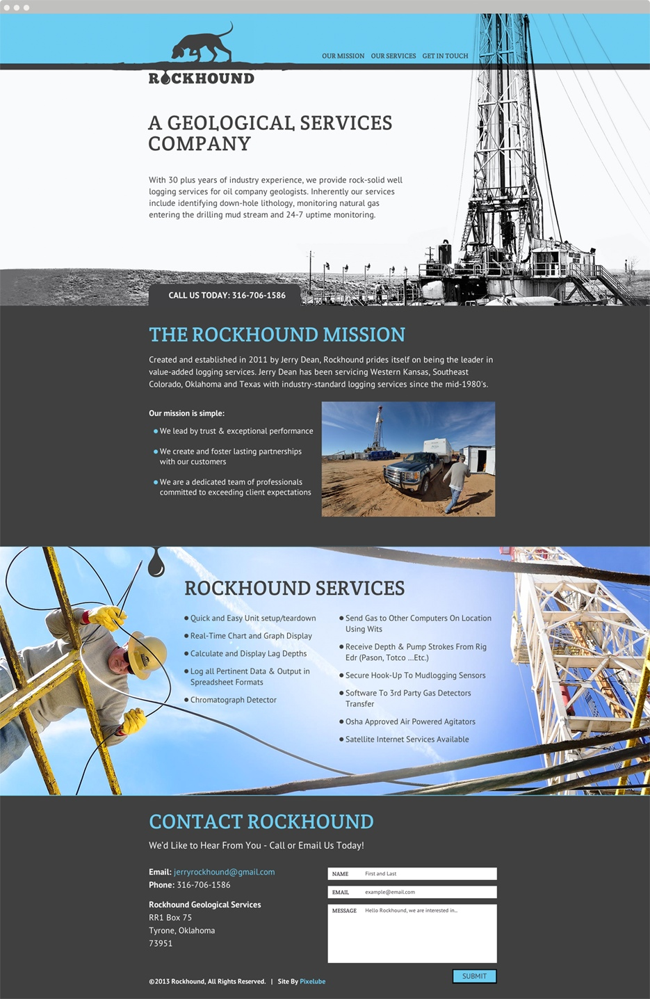 Rockhound Geological Services Website UX