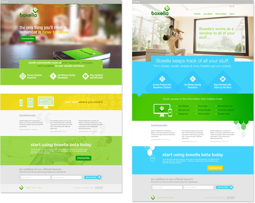 Boxella Website Design