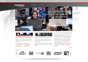 Fisher Communications Homepage Design