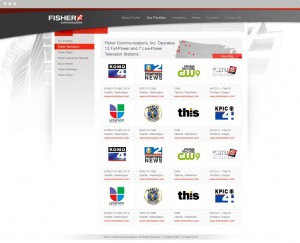 Fisher Communications subpage ux