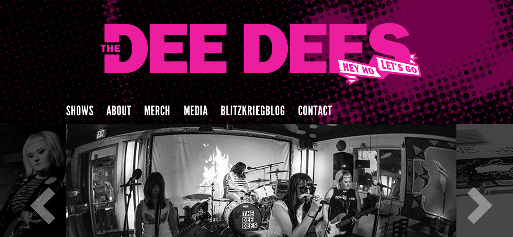 Inspired by the Ramones—the Dee Dees New Logo and Website Design