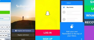 Snapshots of the Signup User Experience via Some of Our Most Popular Apps Today